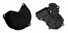 New KTM EXC 250 300 13 14 15 16 Clutch Ignition Cover Protector Combo Black